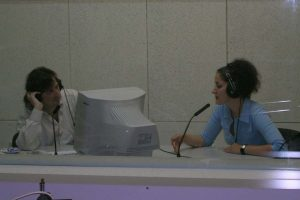 Alexandrina Simeon - Radiosendung Dono Tsvetkov in Varna, 2005 (Foto: Privat)